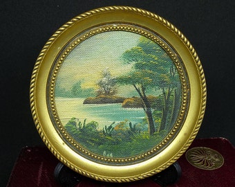 Oil | Oil Painting | Picture | Miniature | Vintage |
