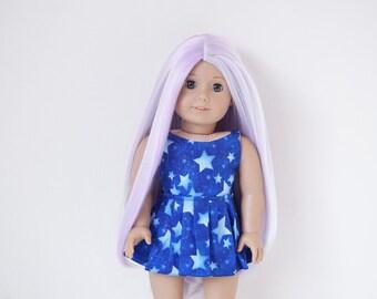 SALE Sparkly Galaxy Ruffled Dress for 18 inch dolls
