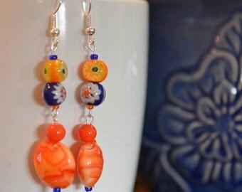 2nd pair of Lorraine's Earrings in the Summer Series