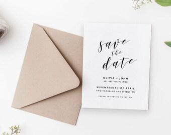 Editable Save The Date Template, Printable Save The Dates, DIY Save The Date, Save The Dates Printable, Save The Date Template - KPC01_101