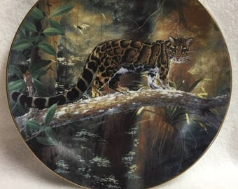 W.L. George The World's Most Magnificent Cats Collector Plate - The Clouded Leopard (#033)