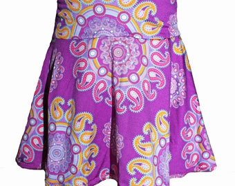 Girls skirt, circle skirt, pleated skirt, 2T/3T