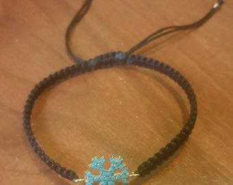 silver snowflake wristband