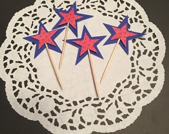 12 Star Cupcake Toppers