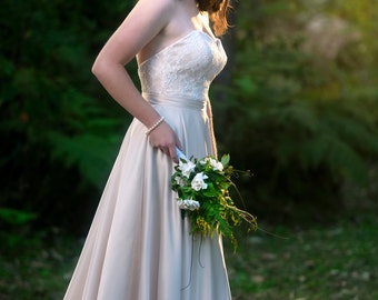 Daisy Gown with Zahara Lace Bodice