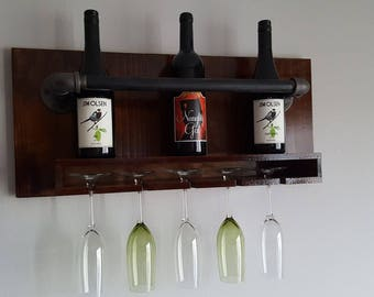 Rustic wine rack - Made to order!
