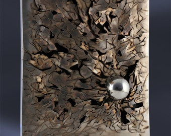 Stainless steel wall sculpture