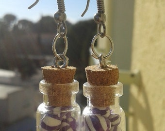 Jars of candy earrings