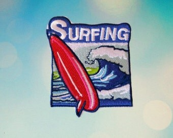 Awesome Surfing Iron On Patch