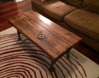 Industrial Rustic Reclaimed Coffee Table