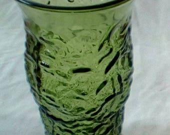 Retro Green Glass Vase