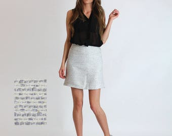 NEW!!! Spring 2017 Mini Skirt / Retro Skirt / 60s skirt / Vintage / women's fashion / Short skirt /  Blue / Rose / Grey / Black / Gold