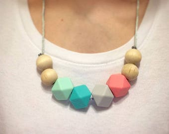 Simple Splash of Color Nursing and Teething Necklace