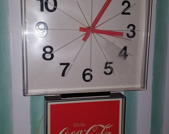 Vintage 1970s Coca Cola Electric Clock