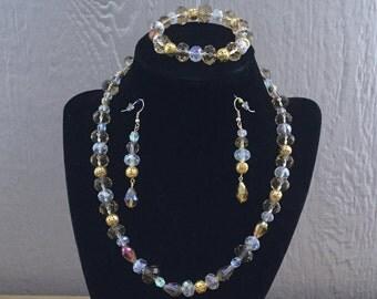 68: Necklace, Bracelet, Earrings Set