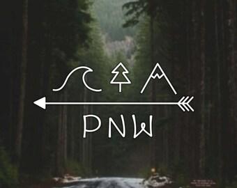 Northwest Sticker Etsy