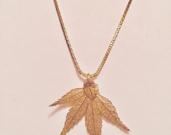 Aspen Leaf Lace Necklace (GOLD PLATED)