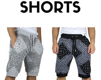 Slim Bandana Print Shorts (PSR-13)