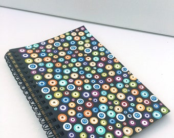 hand painted evil eye notebook