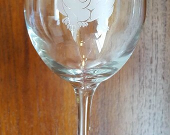 Bulldog Wines Glasses Set of 4
