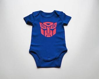 Transformers Autobot Baby Bodysuit/Onesie (Size 0-3mo)