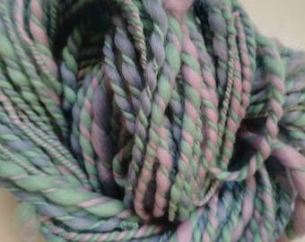 Handspun Merino Art Yarn - laine tissage weaving yarn