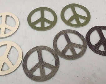 Leather Die-cut peace signs