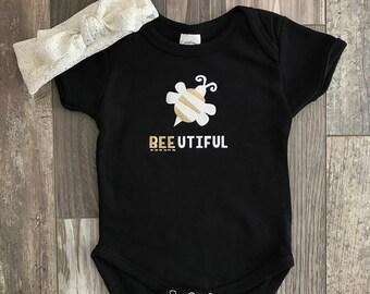 Bee-utiful Gold Baby Onesie or T-shirt