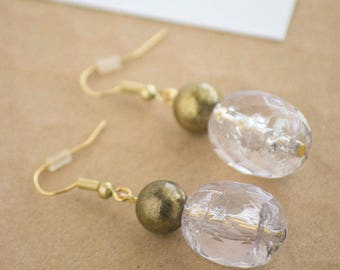Sparkly Gold Drop Earrings