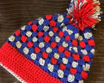 Crochet KU Slouchy Hat