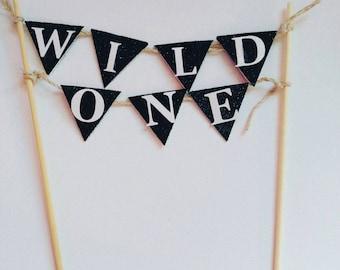 Wild One, Wild One banner, WIld One Smash cake topper, Wild One birthday