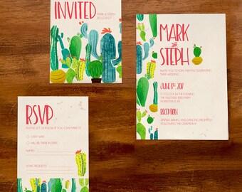 Southwest, Cacti Wedding Stationery