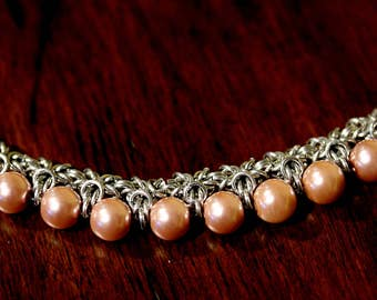 Pearl Threaded Byzantine Necklace