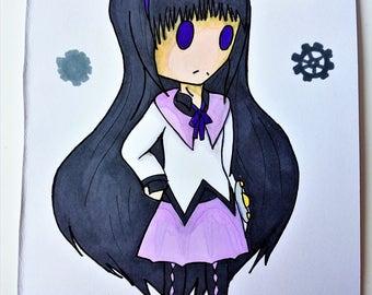 Mahou shoujo Madoka Magica Homura Akemi fan type A5 original