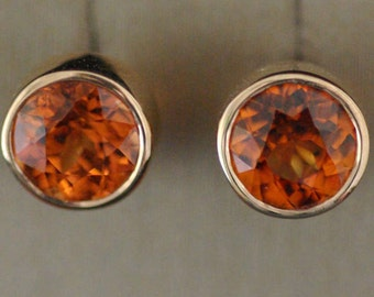 Chips earrings Garnet Spessartites / Spessartite Garnet earrings