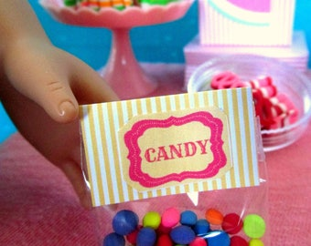 """American Food for 18"""" Girl Doll: Candy Dots 18 Inch Dolls, Old-Fashioned Sweets Shop, Doll Accessories, Doll Dessert Treat, 18"""" Doll Candy"""