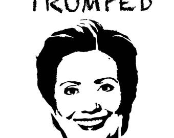 """Giclée print """"Trumped - Hillary"""", limited edition of 10 from the series """"Trumped"""" by art news"""
