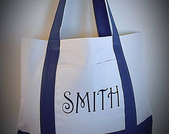 Personalized Tote Bag, Tote, Bag, Personalized, Teacher Gift, Diaper Bag, Beach, Work Bag, Womens
