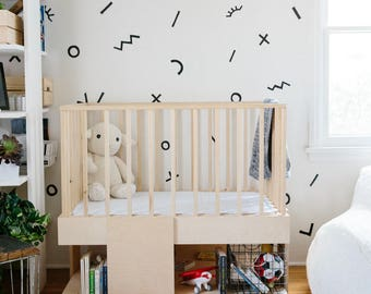 Modern Minimal & Natural Baby Crib
