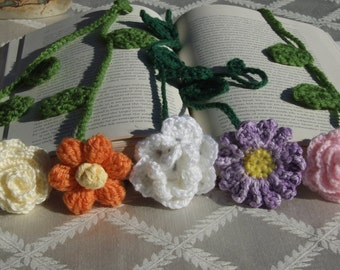 Crochet Bookmark-Crochet Flower Bookmark-Beautiful Bookmark-Gift Idea for Book Lovers, elegant bookmark