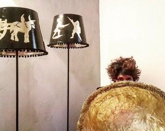 Papier-mâché lamp. Lampshade Series p