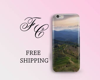 Nature iPhone 5s Case iPhone 6 Plus iPhone SE Case iPhone 6 Case Mountains Plastic iPhone Case iPhone 6s Case Plastic Case Cell Phone aii