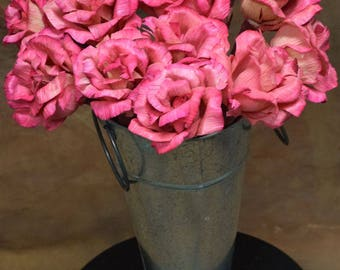 Pink Corn Husk Flowers | Corn Husk Roses | Pink Flowers | Statement Flowers