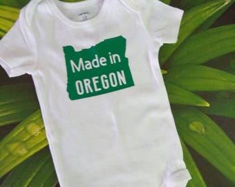 Made in Oregon bodysuit, baby,