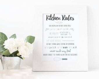 Islamic Kitchen Rules Print