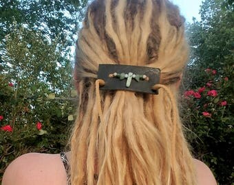 Adjustable leather hair strap