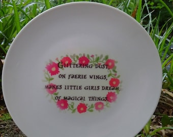 Glittering Dust On Faerie Wings Plate Hand Made Original Design