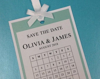 Tiffany inspired Save the Date