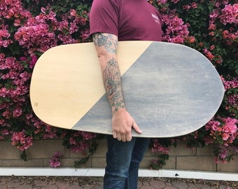 Wood Paipo Belly Board - Surfing