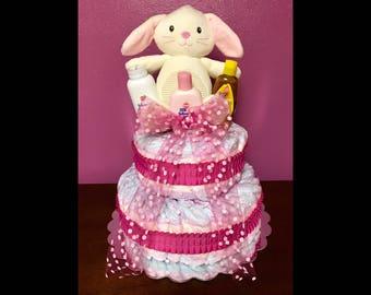 """Baby diaper cake 14"""" x 17"""""""